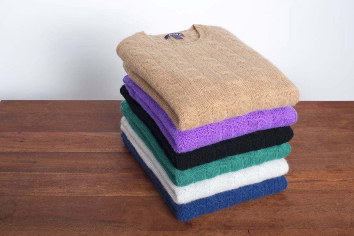 Bonobos Cable Knit Cashmere Sweaters