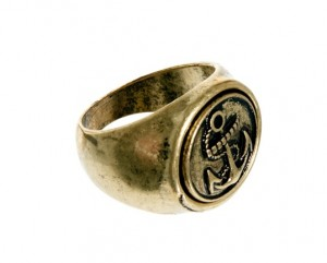 ASOS Signet Ring (With Anchor)