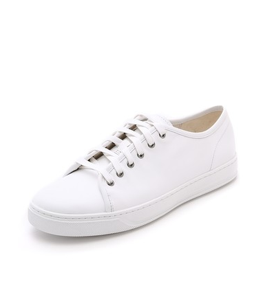 lowtop white sneakers